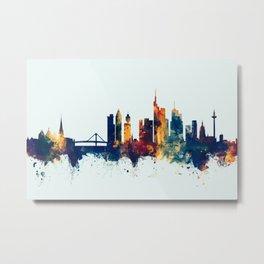Frankfurt Germany Skyline Metal Print
