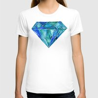 geode T-shirts featuring Aquamarine by Cat Coquillette