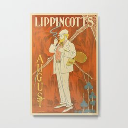 August 1895 Lippincott's magazine Metal Print