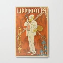 August 1895 Lippincott's magazine Metal Print