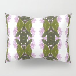 Pink Azalea Flowers with Spring Green Leaves Pillow Sham
