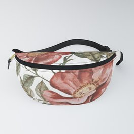 Red Floral Painting Fanny Pack