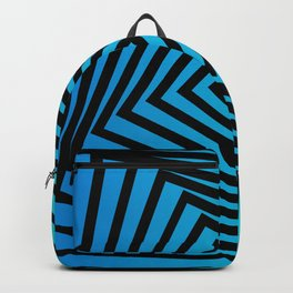 Squares twirling from the Center. Optical Illusion of Perspective bu Squares twirling Backpack