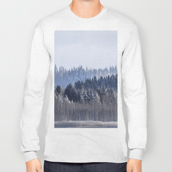 Blue shades in cold winter morning Long Sleeve T-shirt