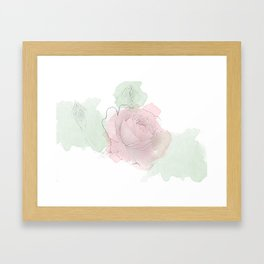 Watercolor flower Framed Art Print