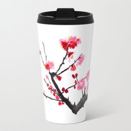 red plum flower Travel Mug