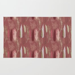 Feather Pattern in Marsala Wine Rug