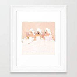 Good Friendly Morning Framed Art Print