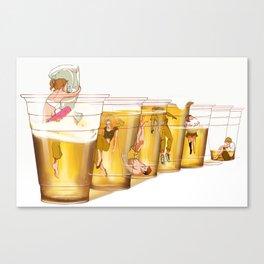 College Solo Cups Canvas Print