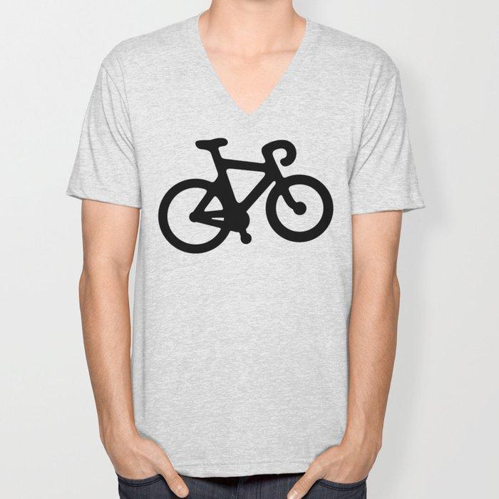 Black Bikes Pattern Unisex V-Neck