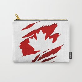 Canadian Red Flag Pride Carry-All Pouch
