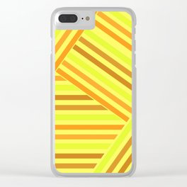 Bright yellow stripes Clear iPhone Case