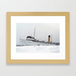 SS Keewatin in Winter White Framed Art Print