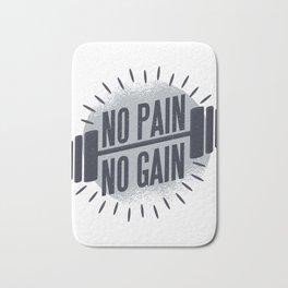No Pain No Gain Barbell Weight Lifting Bath Mat