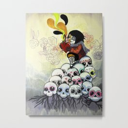 """""""Sugar Skull Song: You are Where You are Because of Them"""" 2011 Metal Print"""