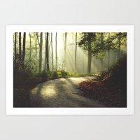 The right turn Art Print