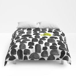 Turtle in Stone Garden Comforters
