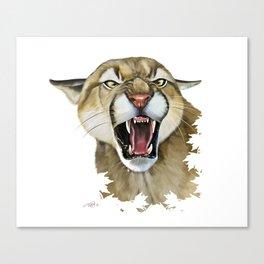snarling cougar Canvas Print