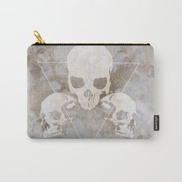 Marble Skulls Carry-All Pouch