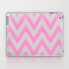 Pink & Gray Chevron Laptop & iPad Skin