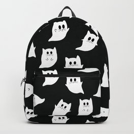 Ghost Cat Cute Spooky Pattern Backpack