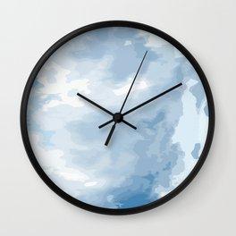 Blue Pearl I Wall Clock