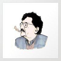 kurt vonnegut Art Prints featuring Kurt by JT Illustrates
