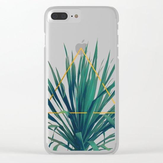Geometric Fountain Clear iPhone Case