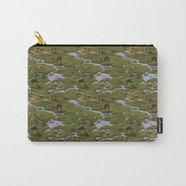 Vicuñas and Flamingoes Carry-All Pouch