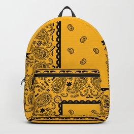 Gold and Black Bandana Backpack