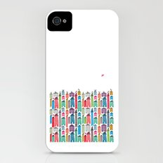 Houses and Birds Slim Case iPhone (4, 4s)