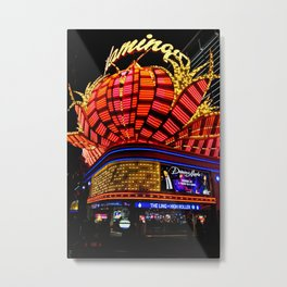 Flamingo Hotel Neon Lights Las Vegas America Metal Print