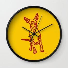 Lajka Podenco 13 Wall Clock