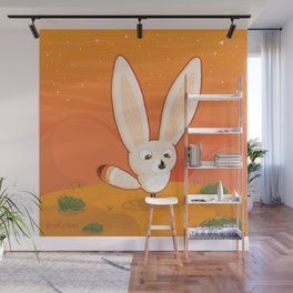 Fennec Fox Meets a Beetle Wall Mural
