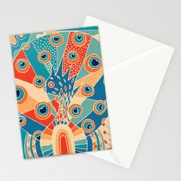 Colorful Peacock Stationery Cards