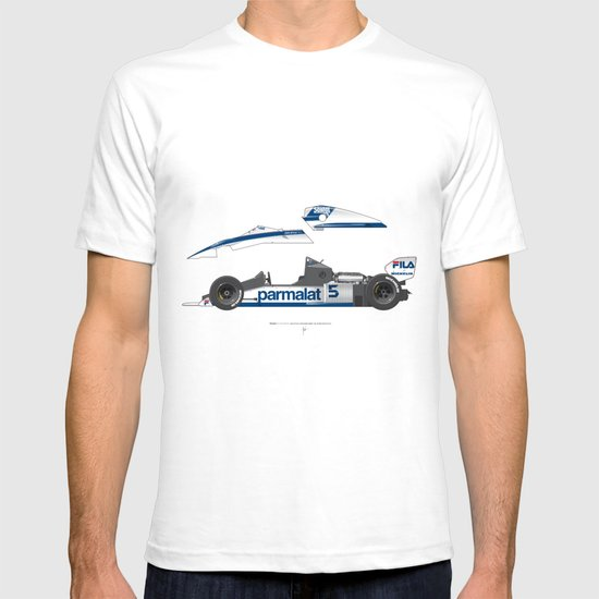 Outline Series N.º6, Nelson Piquet, Brabham BT-52 BMW, 1983 T-shirt