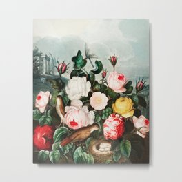 Robert John Thornton - Roses Metal Print