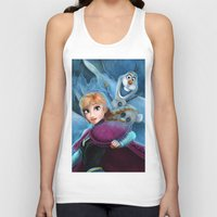 olaf Tank Tops featuring Anna & Olaf  by This Is Niniel Illustrator