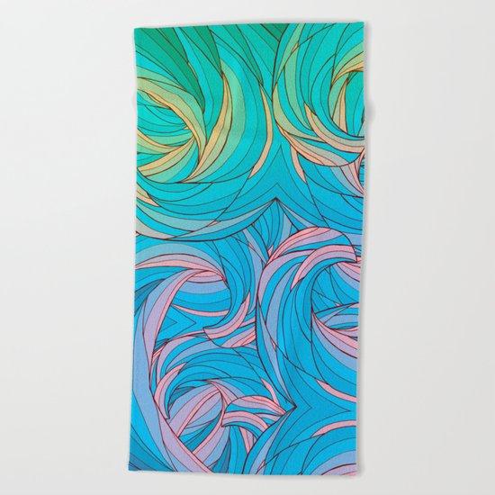 Sun Light Waves Beach Towel