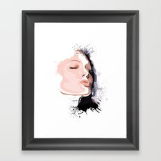 Woman Portrait  Framed Art Print