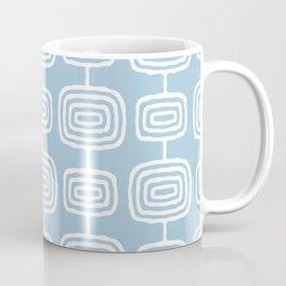 Mid Century Modern Atomic Rings Pattern Light Blue Coffee Mug