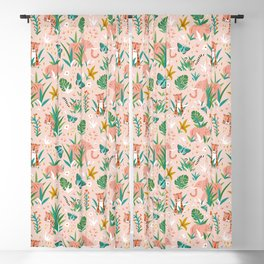 Endangered Wilderness - Blush Pink Blackout Curtain