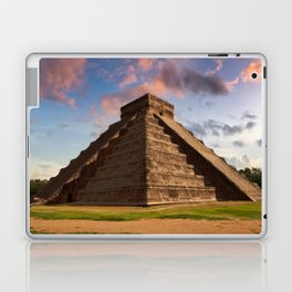 The Feather Serpent - Equinox in Kukulkan Pyramid, Chichen Itza Laptop & iPad Skin