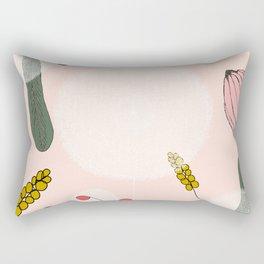 Blushing Blooms Rectangular Pillow