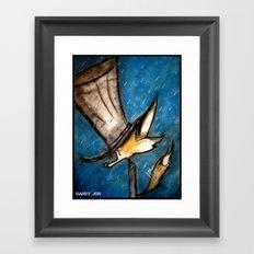 Dandy Fox: Rain Walk Framed Art Print