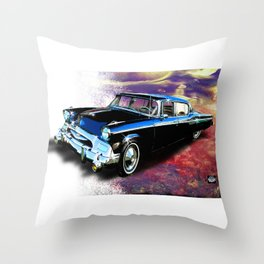 1955 Studebaker President Throw Pillow
