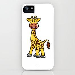 Cartoon Giraffe Giraff Happy Cute Present Son iPhone Case