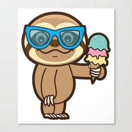 Sloth Summer!! Canvas Print