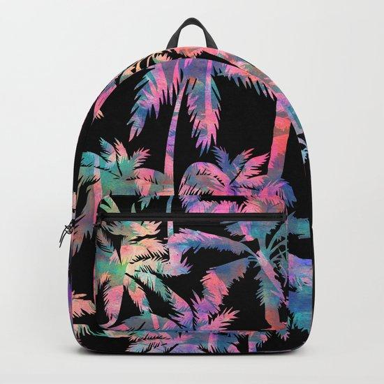 Maui Palm {Black} Backpack