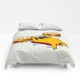 Double Cheeseburger Monday Comforters